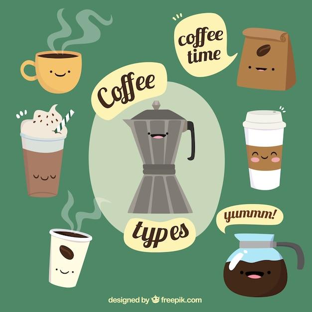 Hintergrund für die die kaffee-zeit Kostenlosen Vektoren