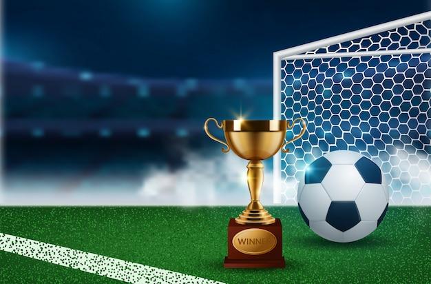 Hintergrund für die fußballmeisterschaft Premium Vektoren