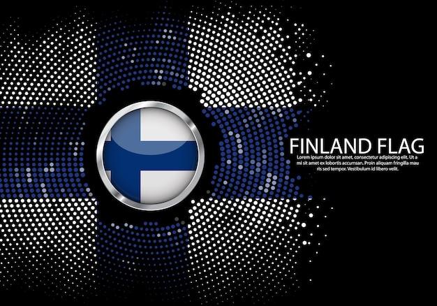 Hintergrund-halbton-steigungsschablone von finnland-flagge. Premium Vektoren