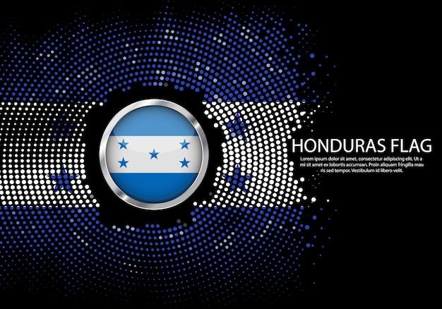Hintergrund-halbton-steigungsschablone von honduras-flagge. Premium Vektoren