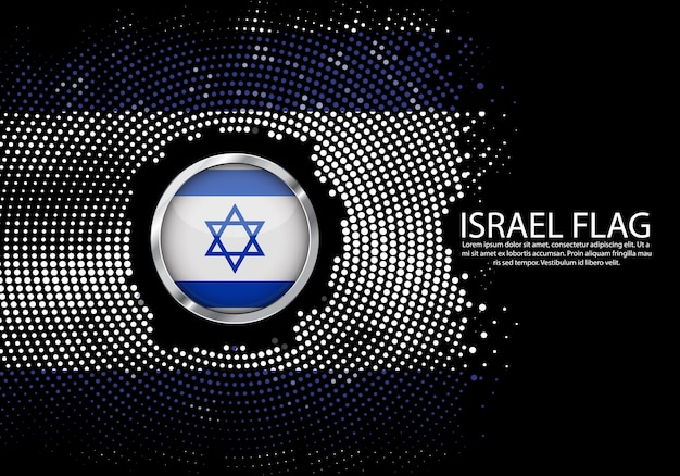 Hintergrund-halbton-steigungsschablone von israel-flagge. Premium Vektoren
