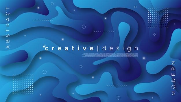 Hintergrund in einem modernen stil mit flüssigen formen Premium Vektoren