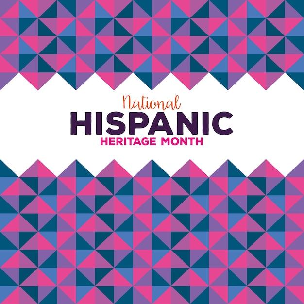 Hintergrund, kultur der hispanoamerikaner und lateinamerikaner, erbe monat national hispanic. Premium Vektoren