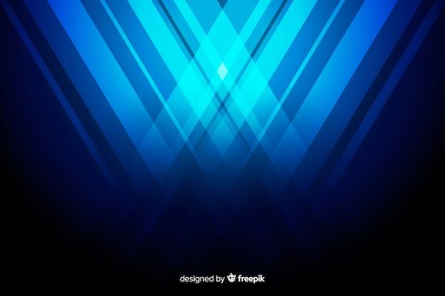 Hintergrund mit abstrakten blauen formen Kostenlosen Vektoren