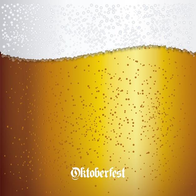 Hintergrund mit bier closeup Premium Vektoren