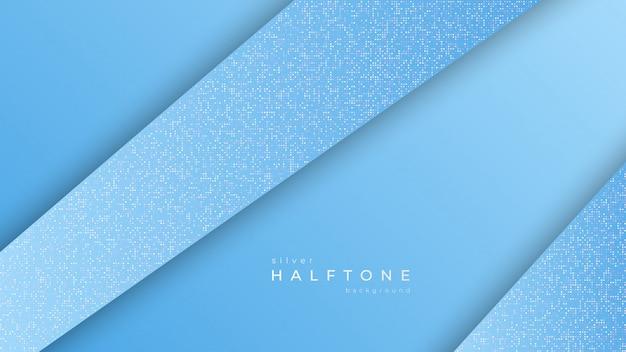 Hintergrund mit diagonalen weißen punkten des steigungshalbtondesigns, silberne halbtonbeschaffenheit Premium Vektoren