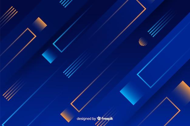 Hintergrund mit farbverlauf mit dynamischen formen Kostenlosen Vektoren