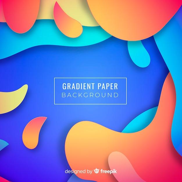 Hintergrund mit farbverlauf papier Kostenlosen Vektoren