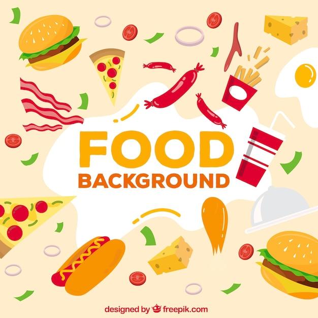 Hintergrund mit fast-food Kostenlosen Vektoren