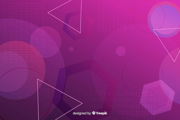 Hintergrund mit geometrischen formen der steigung Kostenlosen Vektoren