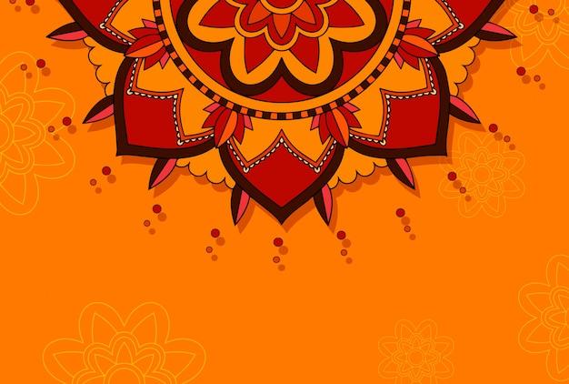 Hintergrund mit mandala-design Kostenlosen Vektoren