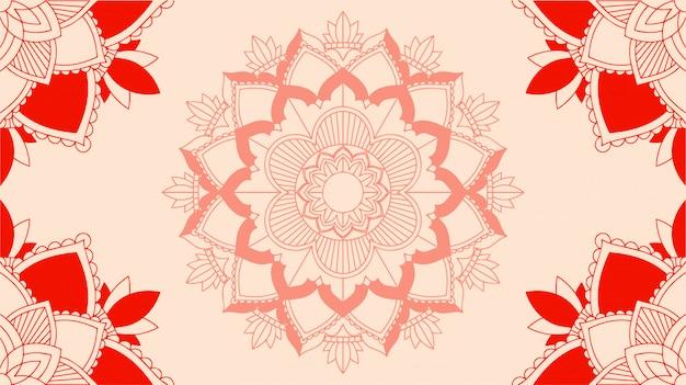 Hintergrund mit mandala-designs Kostenlosen Vektoren