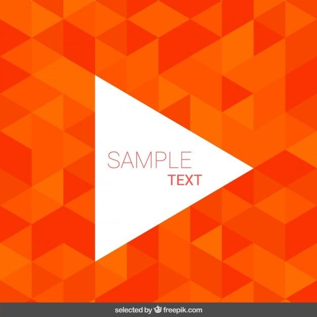 Hintergrund mit orange dreiecken Kostenlosen Vektoren