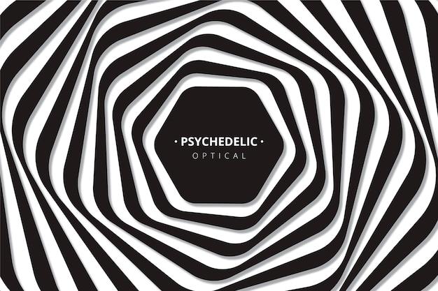 Hintergrund mit psychedelischer optischer täuschung Premium Vektoren