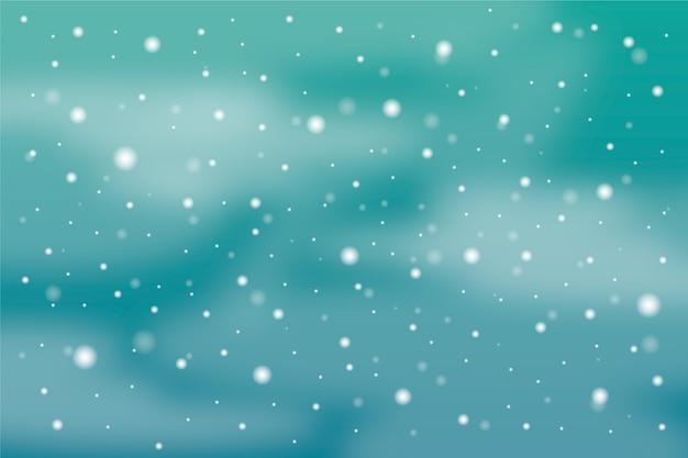 Hintergrund mit realistischem schneefallthema Kostenlosen Vektoren