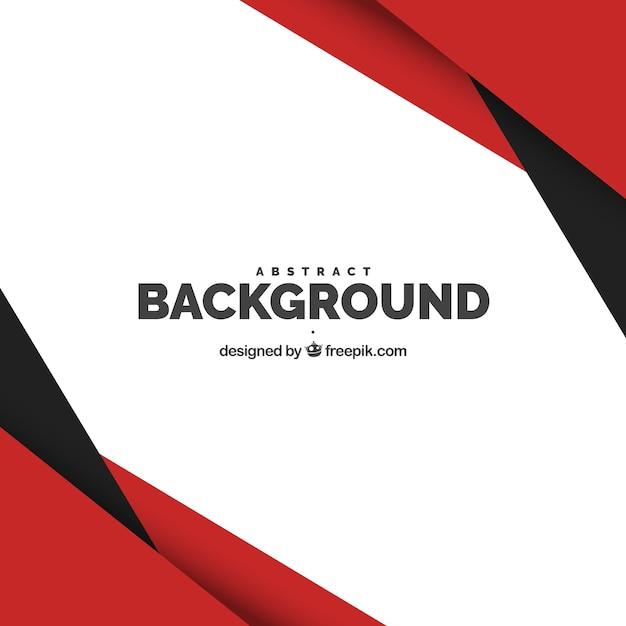 Hintergrund mit roten und schwarzen formen Kostenlosen Vektoren