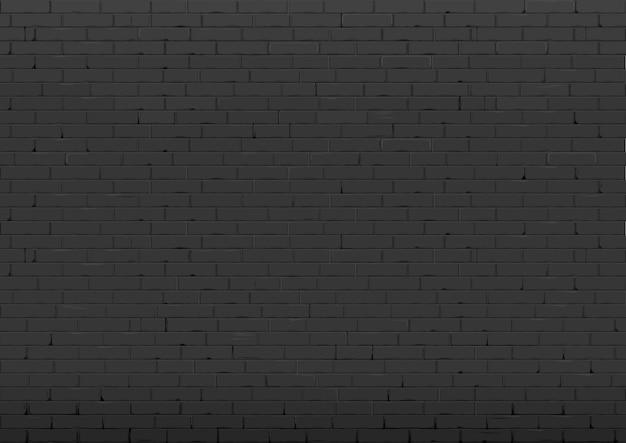 Hintergrund mit schwarzer backsteinmauer Premium Vektoren