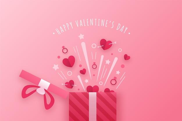 Hintergrund mit valentinstagsthema Premium Vektoren