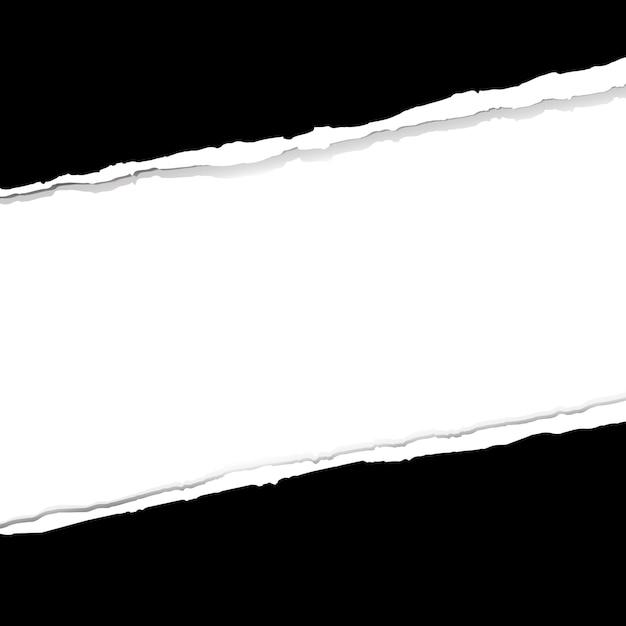 Hintergrund mit zerrissenem papier Premium Vektoren