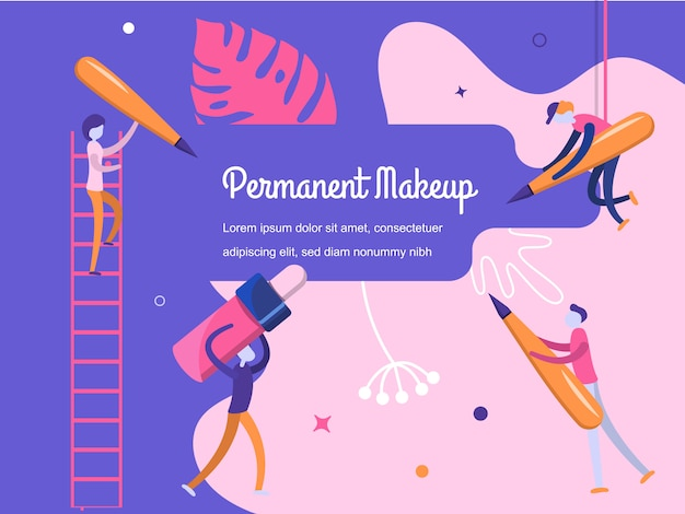 Hintergrund permanent make-up Premium Vektoren