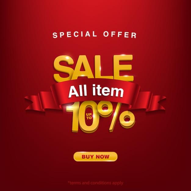 Hintergrund sonderangebot verkauf aller artikel bis zu 10% Premium Vektoren