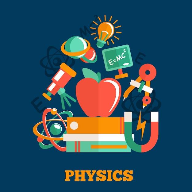 Hintergrund über physik Kostenlosen Vektoren