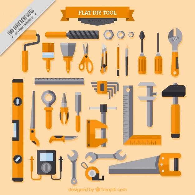 Hintergrund über tischlerwerkzeug Kostenlosen Vektoren