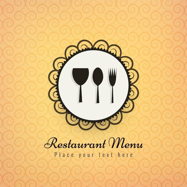 Hintergrund-vektorillustration der restaurantikonen bunte Kostenlosen Vektoren