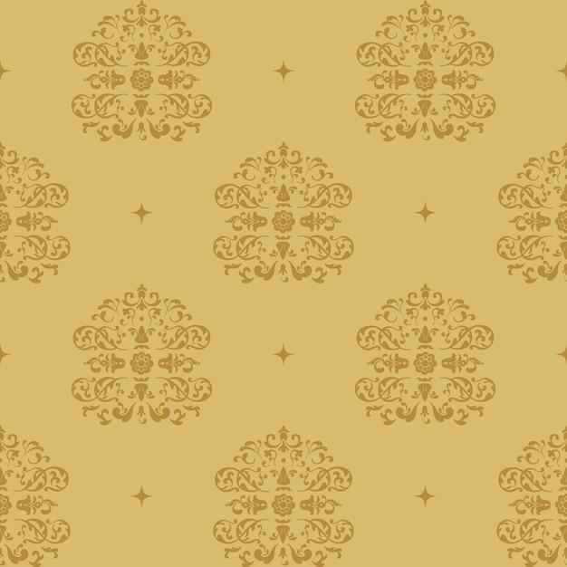 Hintergrund viktorianischen könig. muster im stil barock mit vintage-element. Kostenlosen Vektoren