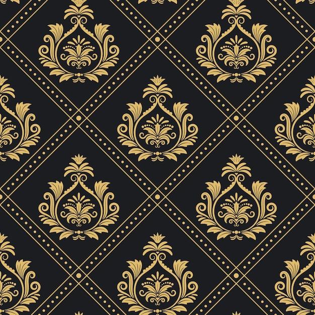 Hintergrund viktorianischen königlichen muster nahtlosen barock. hintergrunddekoration Kostenlosen Vektoren