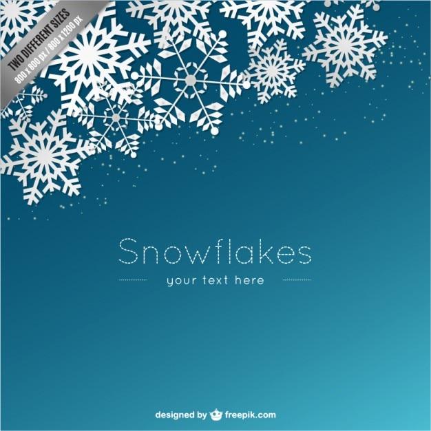 Hintergrund Vorlage Mit Weißen Schneeflocken Download Der