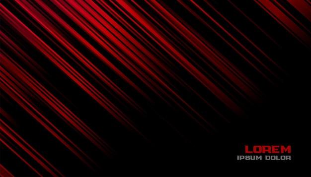 Hintergrunddesign der roten und schwarzen bewegungslinien Kostenlosen Vektoren
