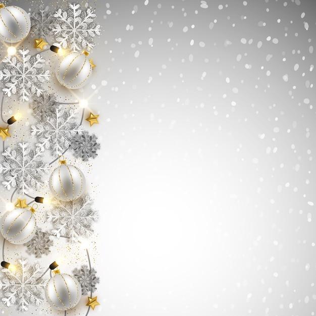 Hintergrunddesign des frohen weihnachten neuen jahres, dekorativer flitter Premium Vektoren