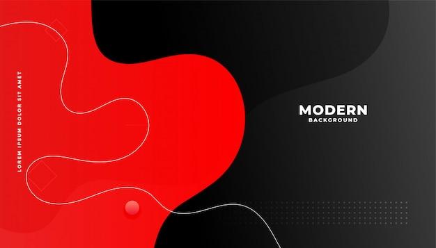 Hintergrunddesign des roten und schwarzen flüssigen gradienten Kostenlosen Vektoren