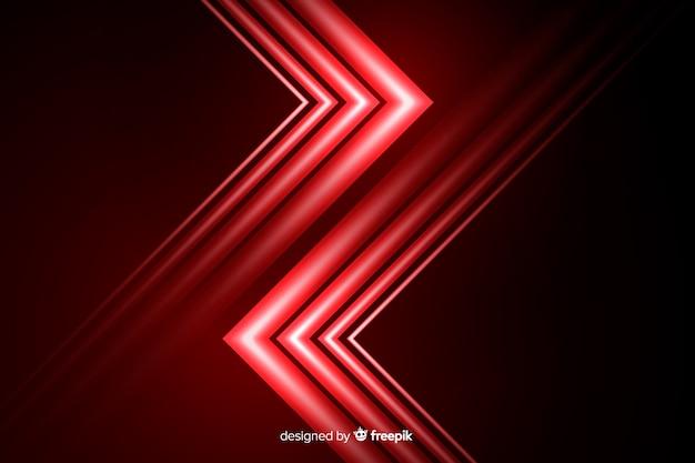 Hintergrundgeometrischer stil mit rotem licht Kostenlosen Vektoren