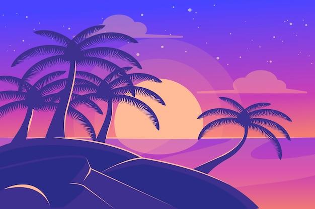 Hintergrundkonzept der palmenschattenbilder Kostenlosen Vektoren
