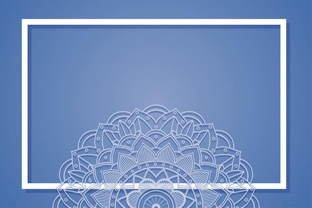 Hintergrundrahmen mit mandaladesignen Kostenlosen Vektoren