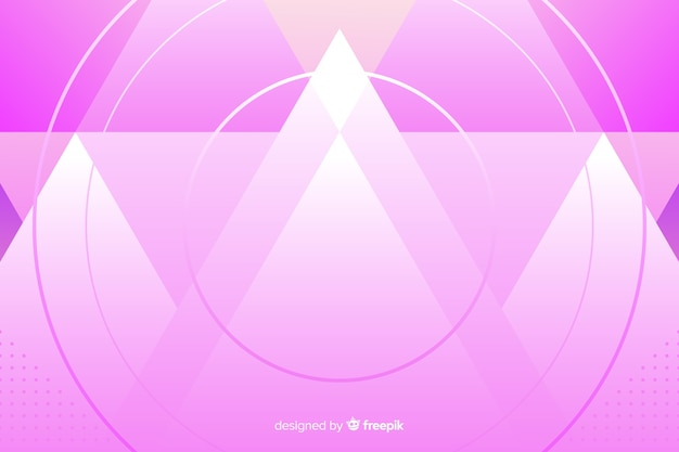 Hintergrundschablone mit abstrakten rosa montains Kostenlosen Vektoren