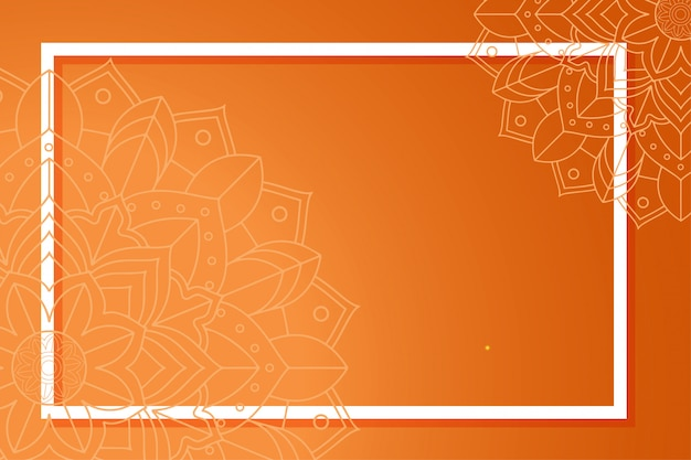 Hintergrundschablone mit mandalamustern Kostenlosen Vektoren