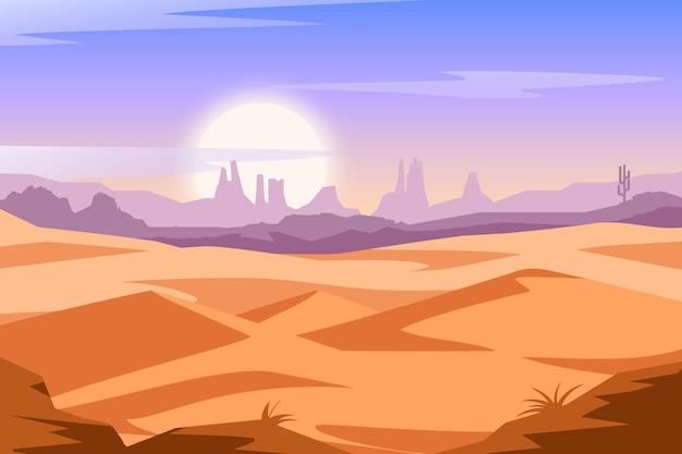 Hintergrundthema der wüstenlandschaft Kostenlosen Vektoren