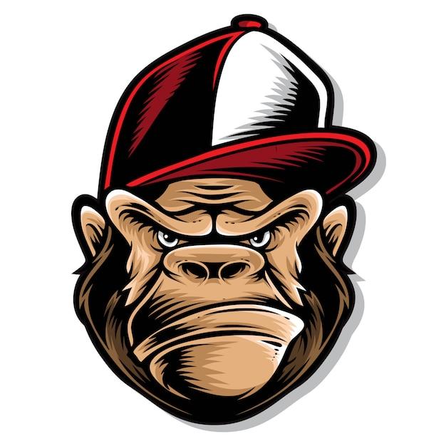 Hip-hop-gorilla-logo Premium Vektoren