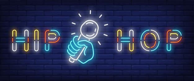 Hip-hop-neon-stil-banner Kostenlosen Vektoren