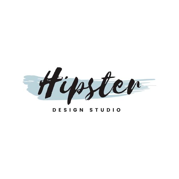 Hipster design studio logo vektor Kostenlosen Vektoren