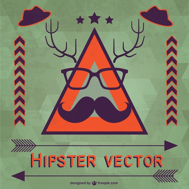 hipster vektor vorlage download der kostenlosen vektor. Black Bedroom Furniture Sets. Home Design Ideas