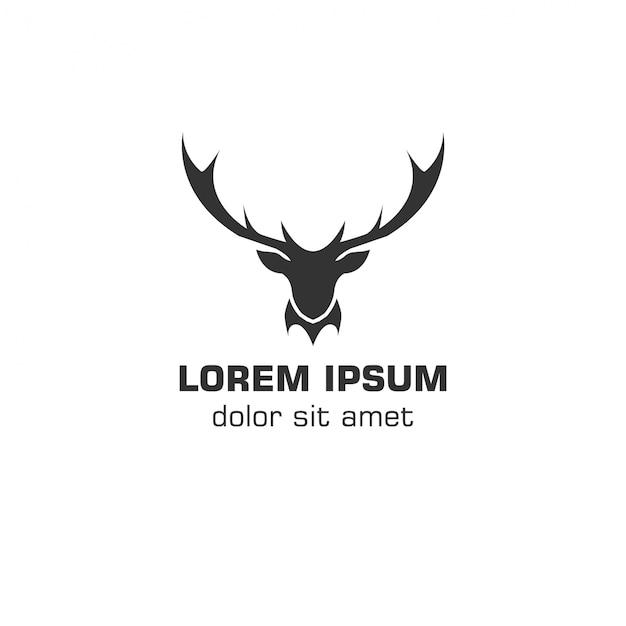 Hirsch-Vektor-Logo-Vorlage | Download der Premium Vektor