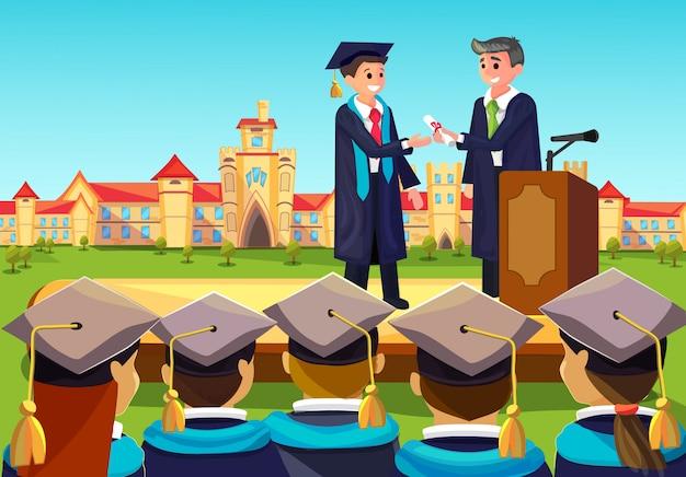 Hochschulabschlussfeier Premium Vektoren