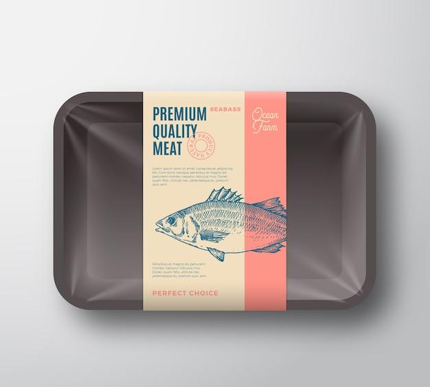 Hochwertiges seebarschpaket. Kostenlosen Vektoren