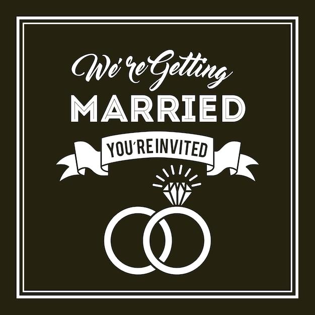 Hochzeit einladung design Premium Vektoren