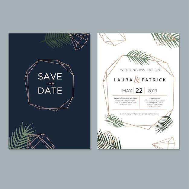 Hochzeit einladungsvorlage Premium Vektoren