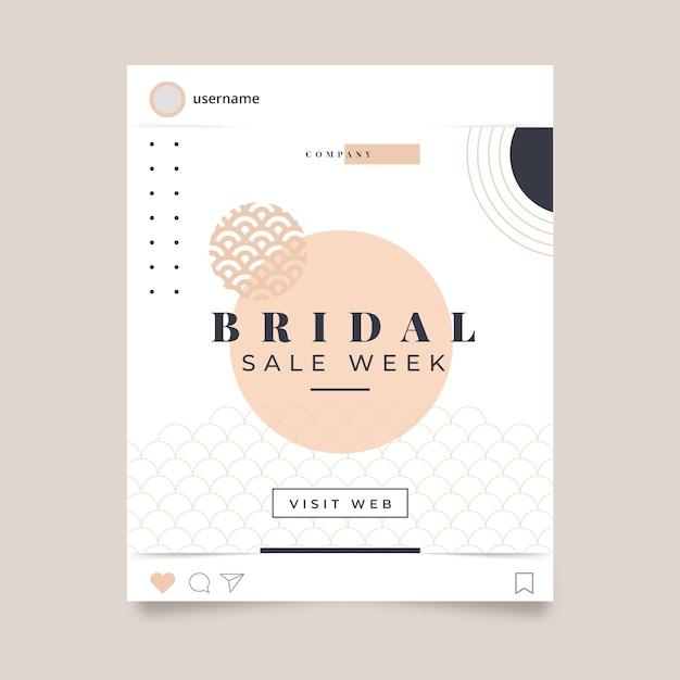 Hochzeit instagram post vorlage Kostenlosen Vektoren